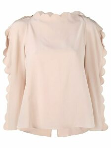 Fendi scalloped blouse - Pink