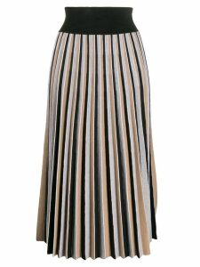 Agnona pleated midi skirt - Brown