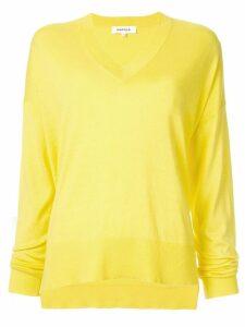 Enföld V-neck fine knit sweater - Yellow
