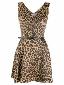 Liu Jo leopard print flared dress - Neutrals
