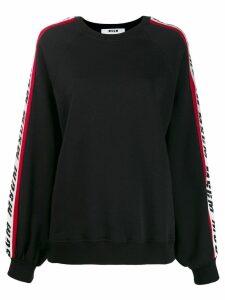 MSGM side logo sweatshirt - Black