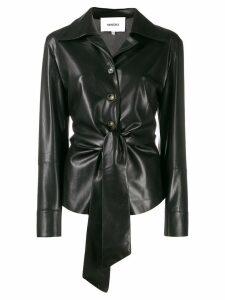 Nanushka Poppy faux leather overshirt - Black