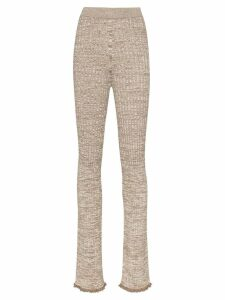 Jil Sander ribbed knit trousers - Neutrals