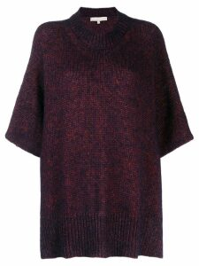 Vanessa Bruno knitted poncho style sweater - Purple