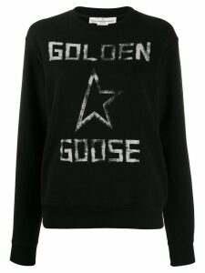 Golden Goose printed logo sweatshirt - Black