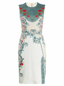 Versace Collection floral dress - Neutrals