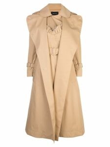 Simone Rocha double breasted peacoat - Neutrals
