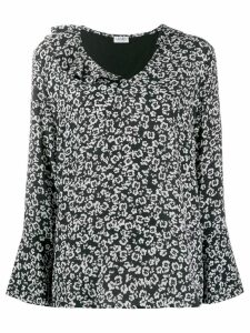 Liu Jo floral flared blouse - Black