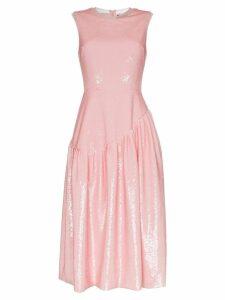 Simone Rocha sequin embellished midi dress - Pink