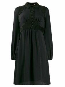 Nº21 velvet panel shirt dress - Black