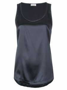 Brunello Cucinelli silk tank top - Blue