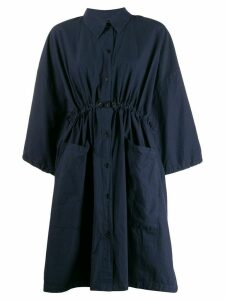 Henrik Vibskov cropped sleeve shirt dress - Blue