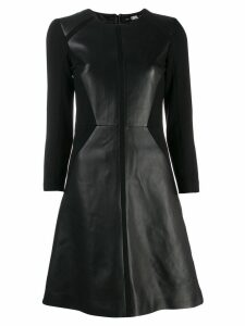 Karl Lagerfeld panelled leather dress - Black