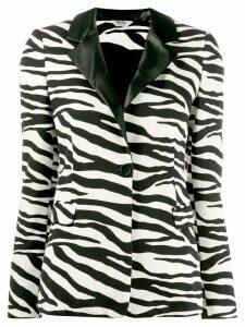 Liu Jo zebra print blazer - White