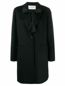 Valentino bow tie embellished coat - Black