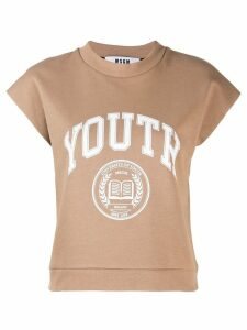 MSGM printed 'youth' T-shirt - Neutrals