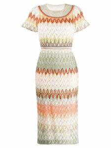 Missoni fine knit dress - Pink