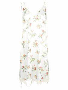 R13 floral print slip dress - White