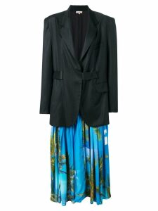 Natasha Zinko maxi jacket with detachable dress - Black