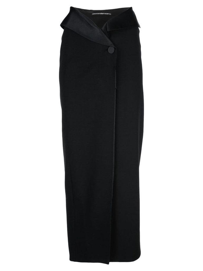 Alexander Wang tuxedo wrap skirt - Black