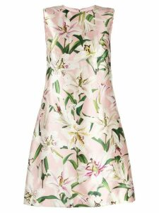 Dolce & Gabbana lily print satin dress - Pink