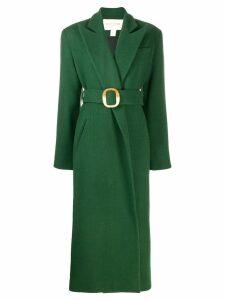 Matériel belted wrap overcoat - Green