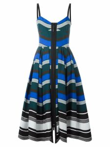 Fendi wavy print dress - Blue