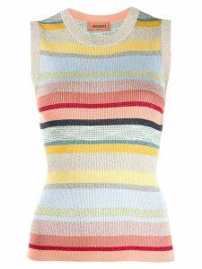 Missoni striped metallic knitted top - Blue