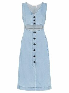 See By Chloé cut-out denim midi dress - Blue