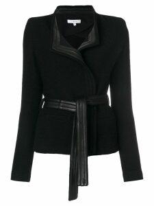 Iro leather trim blazer - Black