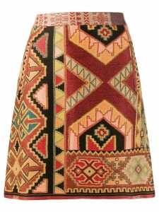 Etro mini jacquard skirt - Red