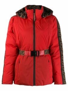 Fendi quilted FF logo coat - Red