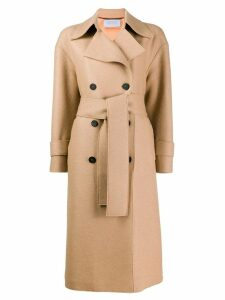 Harris Wharf London double-breasted coat - Neutrals