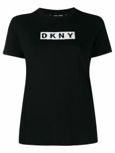 DKNY box logo print T-shirt - Black