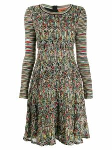 Missoni mixed-pattern knitted dress - Black