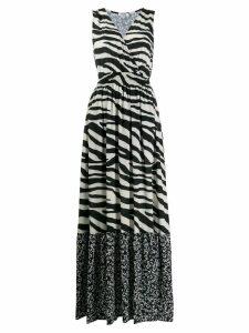 Liu Jo zebra print maxi dress - Black