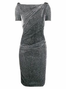 Talbot Runhof metallic ruched dress