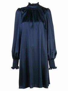 Adam Lippes fluid high neck dress - Blue