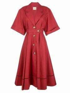 Khaite flared midi dress