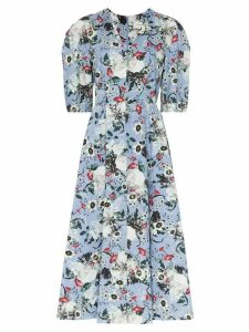 Erdem Cressida floral print midi dress - Blue