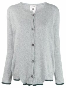 Semicouture asymmetric hem cardigan - Grey