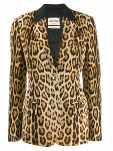 Roberto Cavalli heritage leopard print blazer - Neutrals