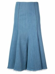 Gabriela Hearst Heart print denim midi skirt - Blue