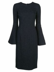 Oscar de la Renta flared cuff midi dress - Blue