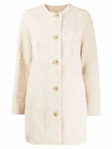 Drome lamb fur coat - Neutrals