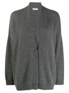 Brunello Cucinelli sequin embroidered cardigan - Grey