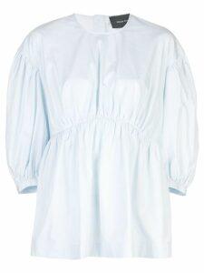Simone Rocha puff sleeve blouse - Blue