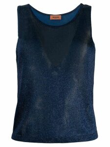 Missoni metallic knitted top - Blue