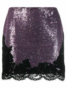 Philosophy Di Lorenzo Serafini sequin embellished mini skirt - Purple