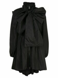 Adam Lippes oversized bow detail coat - Black